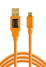 Tether Tools Tether Tools TetherPro USB 2.0 to Micro-B 5-Pin, 15' (4.6m), High-Visibility Orange