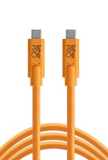 Tether Tools Tether Tools TetherPro USB-C to USB-C, 3' (1m), High-Visibility Orange (Incl. USB Flat Mount Computer Support)