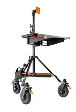 Inovativ Inovativ AXIS BASE STATION includes the AXIS Stand + Wheel System, WorkSurface Pro, Pro Monitor Mount, Trough and Weight Hanger + 25lb Weight Bag.