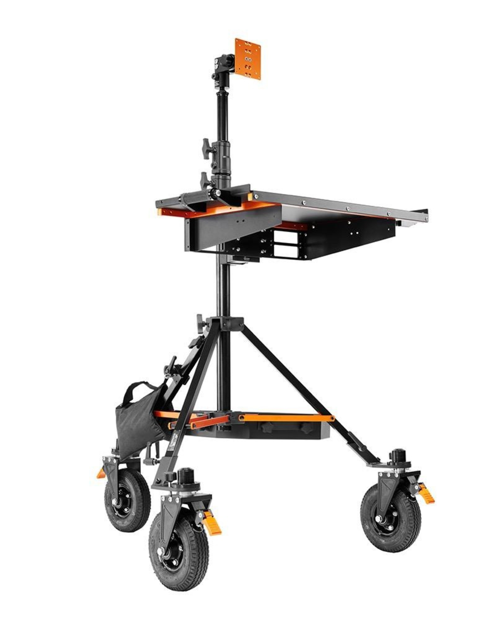Inovativ Inovativ AXIS Base Station. Includes the AXIS Stand + Wheel System, WorkSurface Pro, Pro Monitor Mount, Trough and Weight Hanger + 25lb Weight Bag.