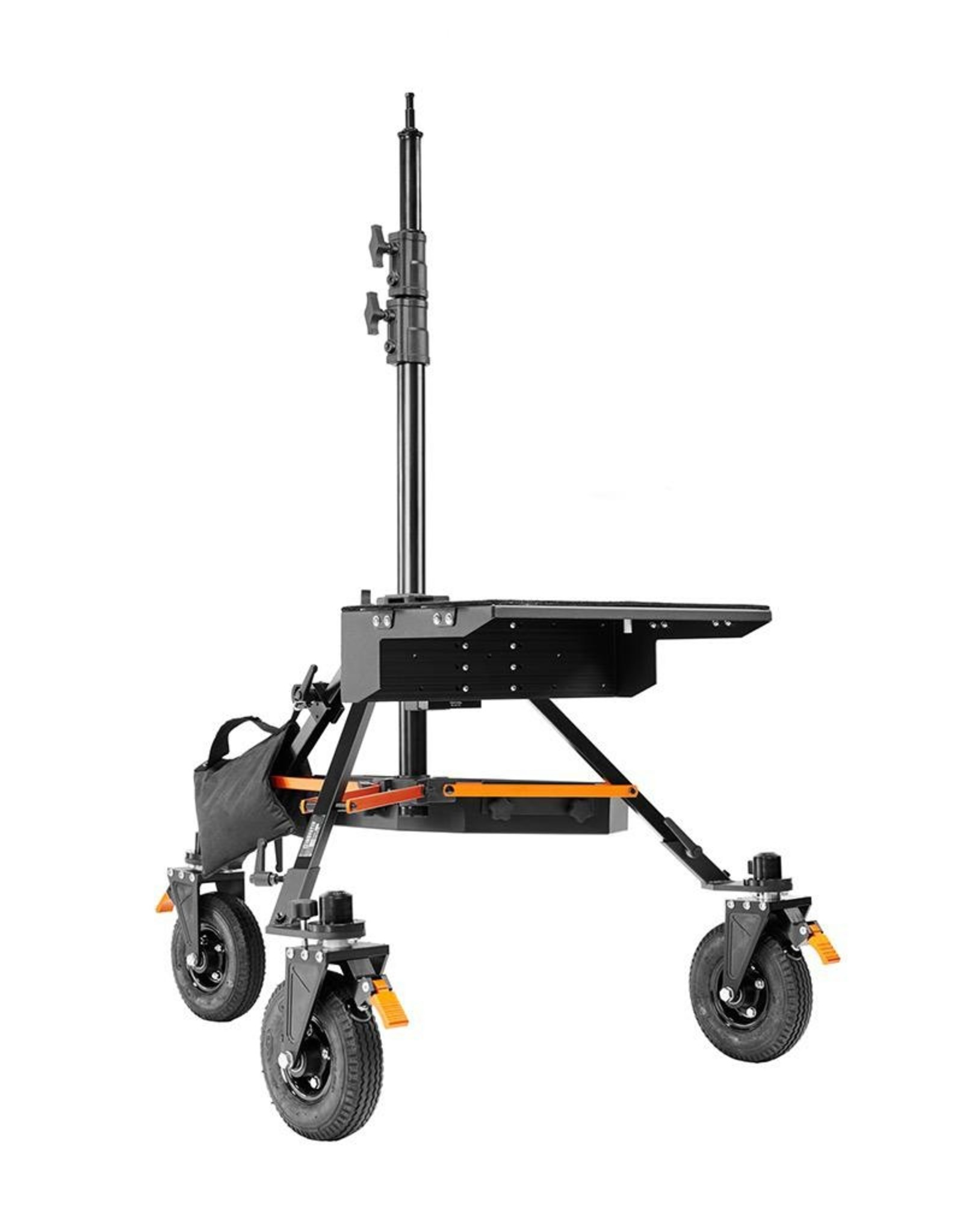 Inovativ Inovativ AXIS Stabilizer Station. Includes the AXIS Stand + Wheel System, Case Platform + Tie Down Anchors, Trough and Weight Hanger + 25lb Weight Bag.
