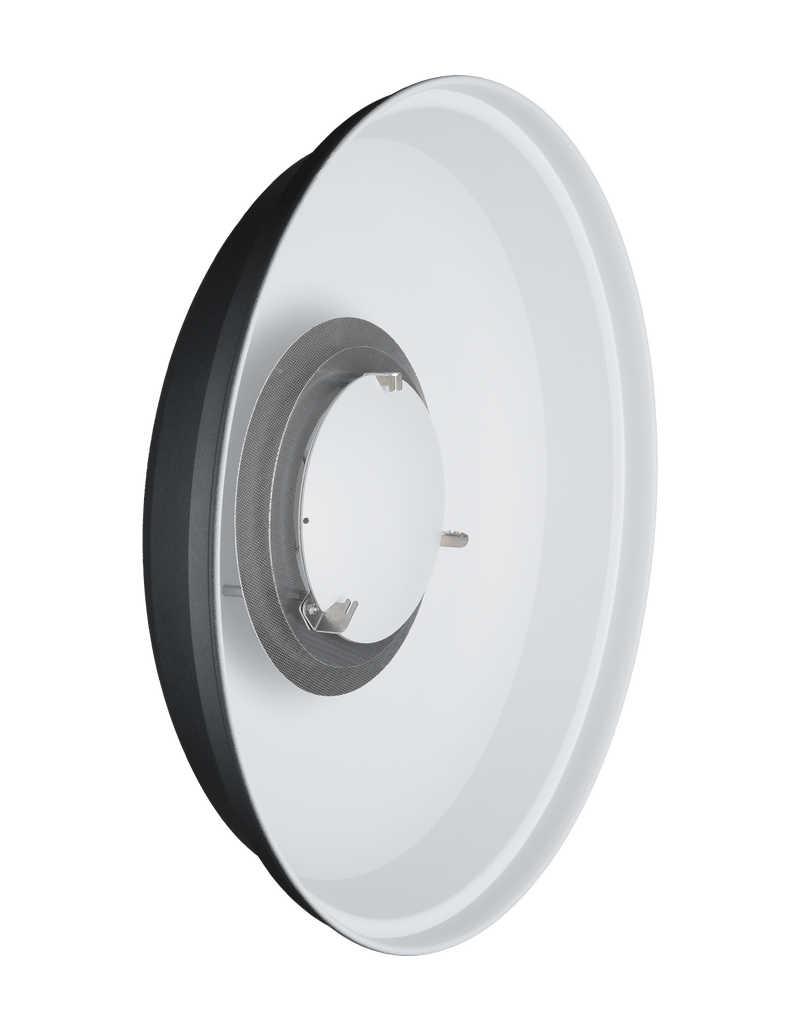 """Hensel Hensel 22 """" ACW Beauty Dish VII white with filter holder and soft disk for EH to fix 7"""" honey combs or 22"""" honey comb grids compl. with ring"""