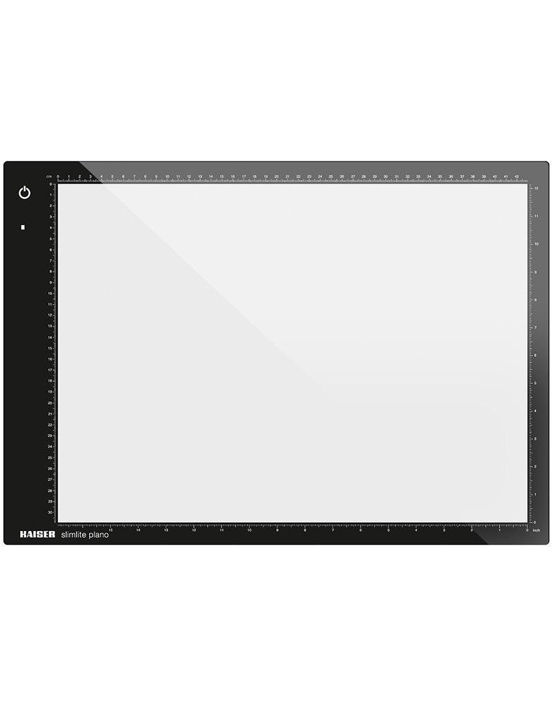 """Kaiser Kaiser """"slimlite plano"""" LED Light Box (Large), 5000 K, dimmable, mains or battery operation, incl. mains adapter / charger, 100 - 120 V / 60 Hz, US-Plug, illuminated area 31 x 42.8 (12.2 x 16.9 in.)"""