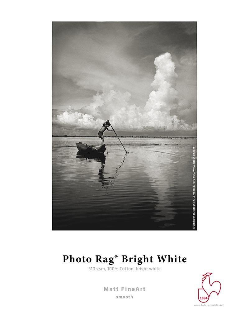 "Hahnemuhle Hahnemuhle Photo Rag® Bright White 310gsm 44"" x 39' Roll, 3"" core"