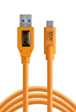Tether Tools Tether Tools TetherPro USB 3.0 to USB-C, 15' (4.6m), High-Visibility Orange