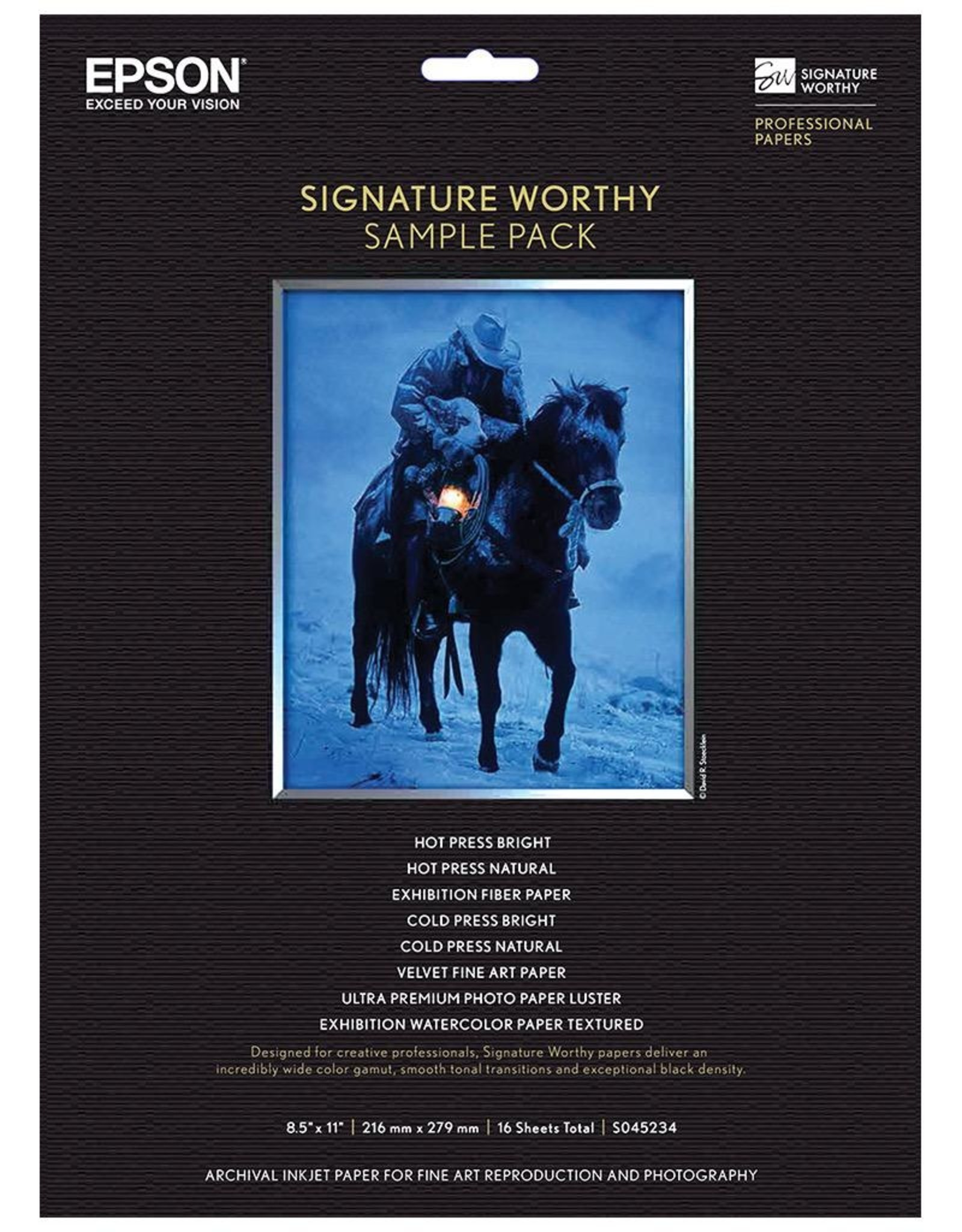 "Epson Epson Signature Worthy Sample Pack 8.5"" x 11"" - 14 sheets."