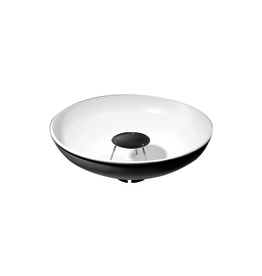 "Dynalite 80 degree softlight reflector white, 18"" diameter, w/ fabric diffuser (for Studio head)"