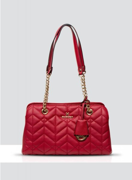 MADISON EMILY CHAIN HANDLE E/W SMALL TOTE - RED