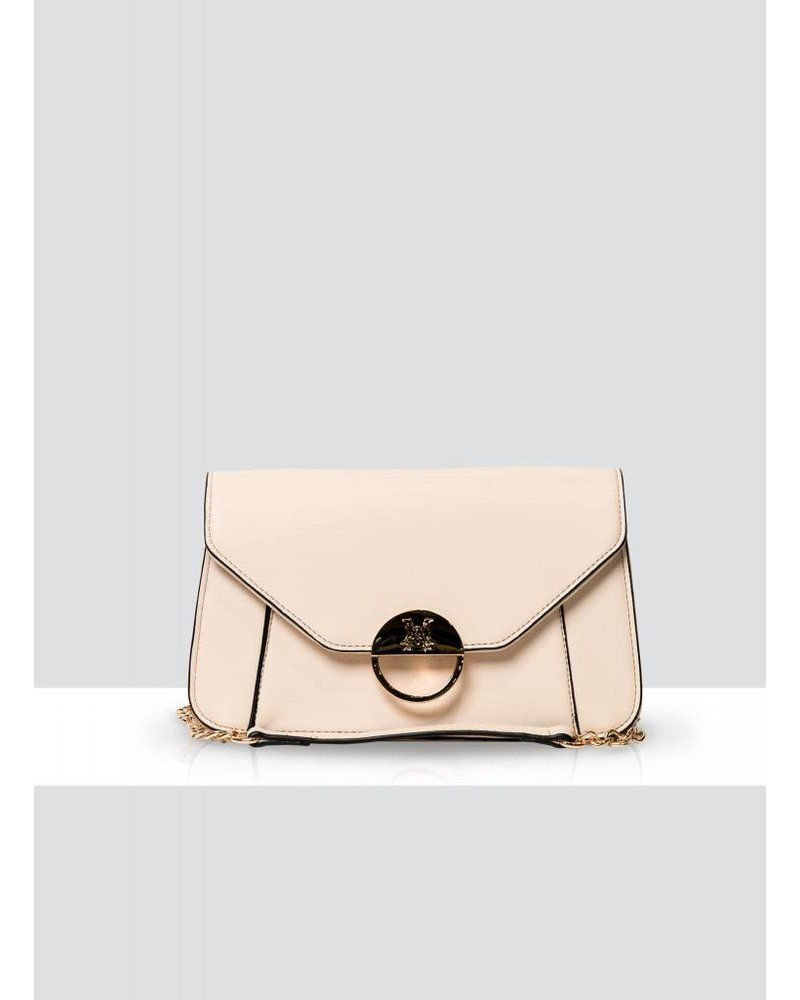 MADISON LUCY FLAP OVER CLUTCH - NUDE