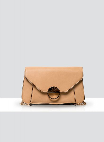 MADISON Lucy Flap Over Clutch - Honey