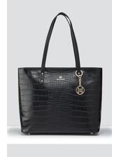 MADISON Evelyn Unlined Shopper Tote - Black Croc