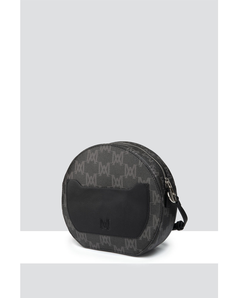 MADISON OLIVIA CIRCLE CROSSBODY - BLACK MA Print