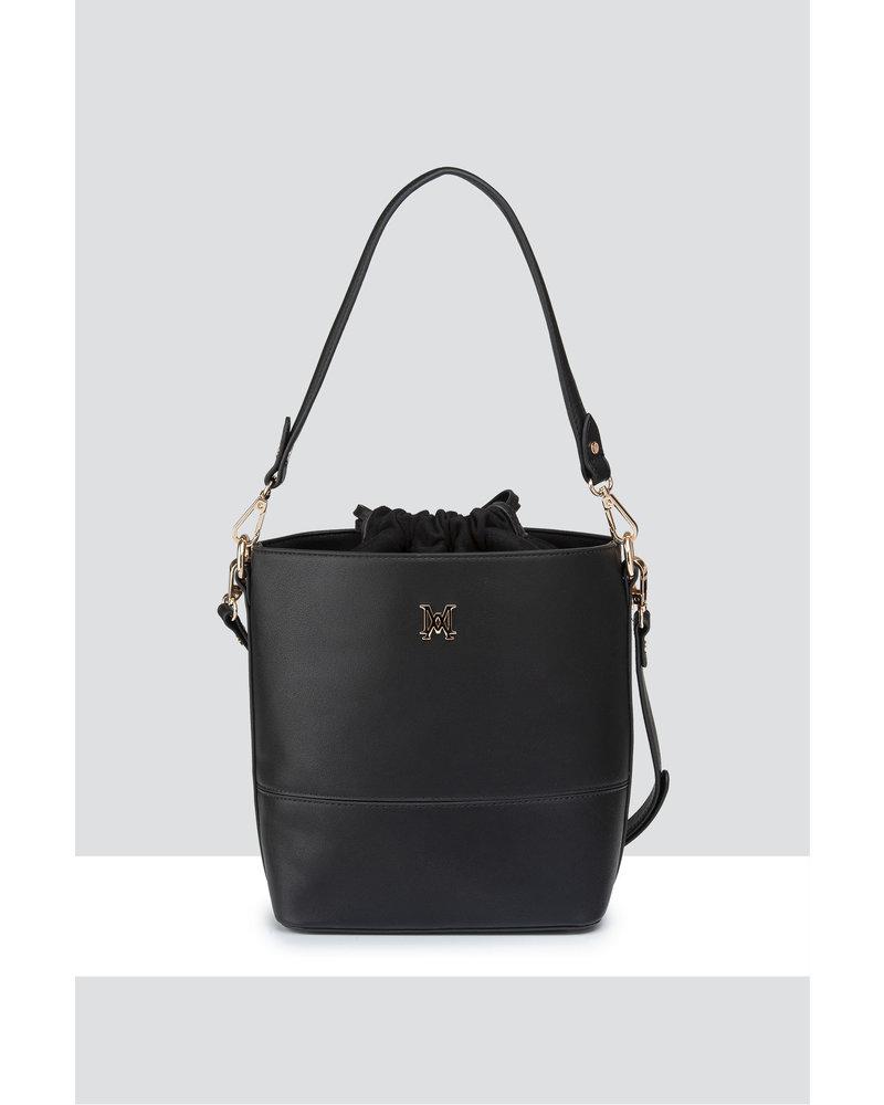 MADISON KIMMI BUCKET BAG WITH DRAWSTRING CLOSURE - BLACK