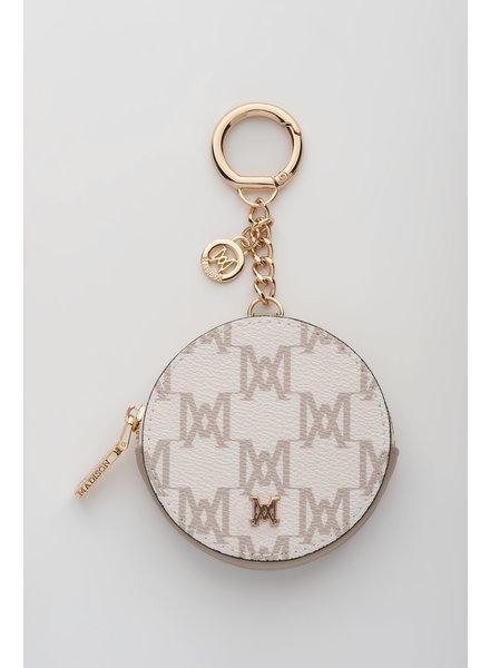 MADISON Lottie Circle Coin Case Clip on - Ecru MA