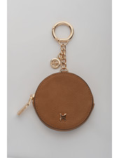 MADISON Lottie Circle Coin Case Clip on - Lt Tan