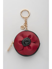 MADISON Lottie Circle Coin Case Clip on - Red & Black Flower