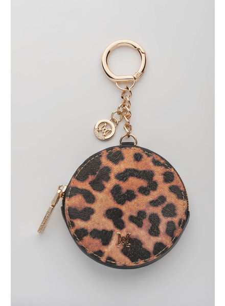 MADISON Lottie Circle Coin Case Clip on - Leopard/Black