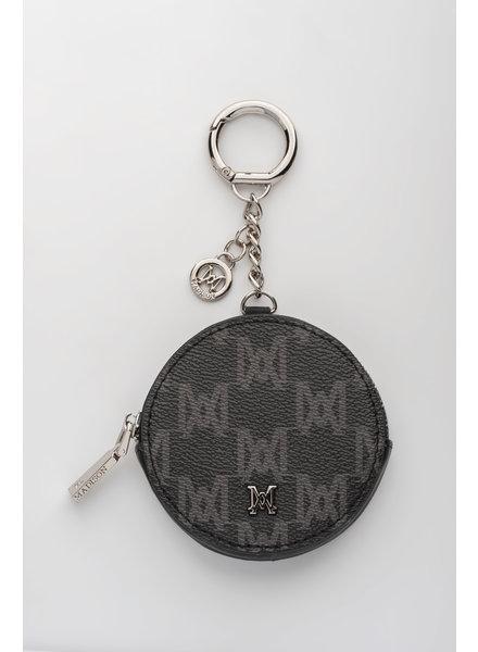 MADISON LOTTIE CIRCLE COIN CASE CLIP ON - BLACK MA Print