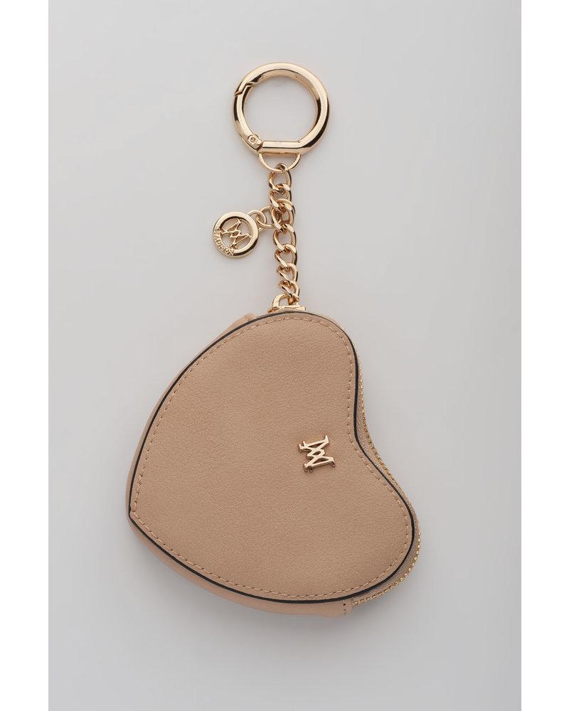 MADISON Tese Heart Clip on Accessory - Dusty Blush