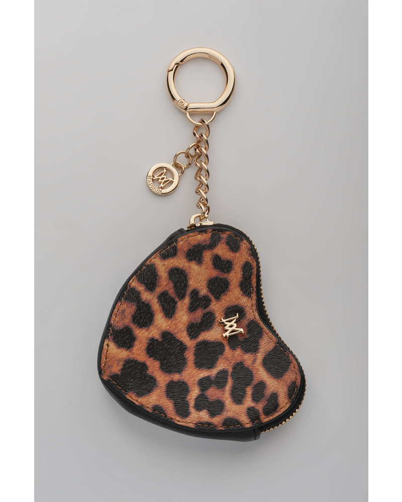 MADISON Tese Heart Clip on Accessory - Leopard/Black