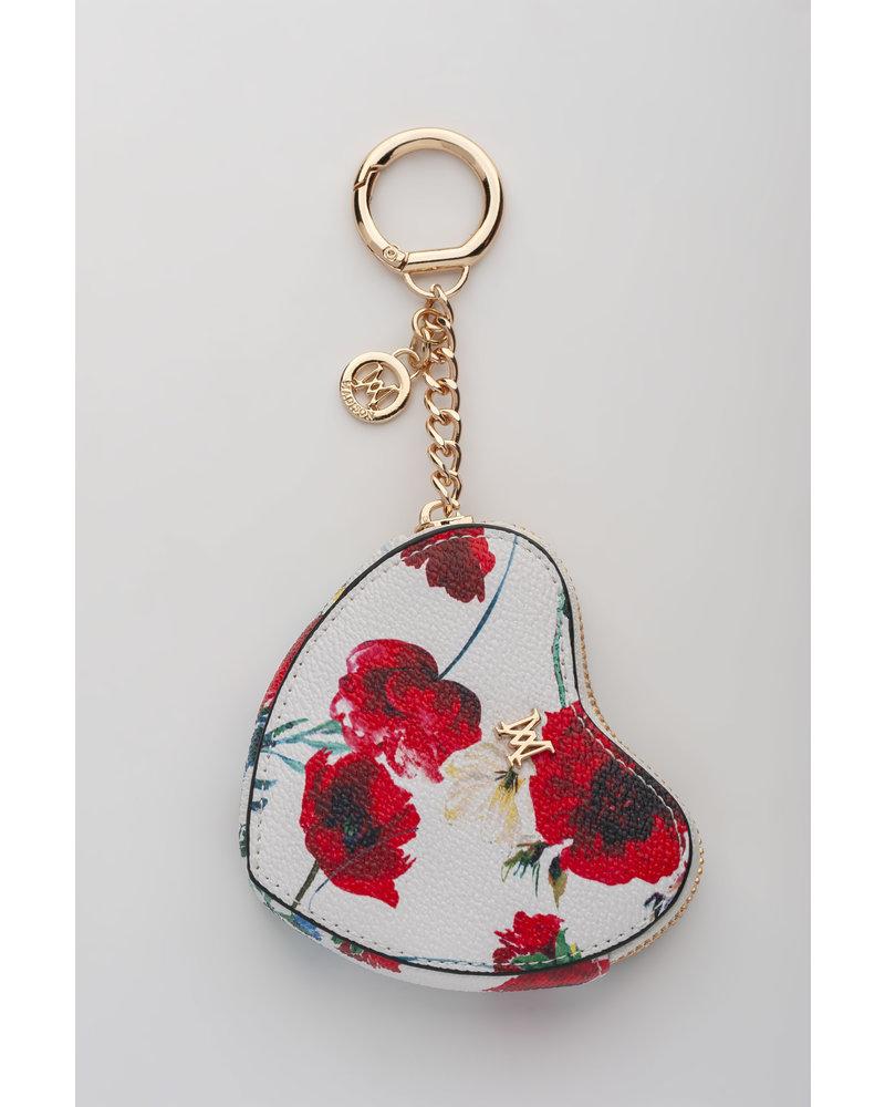 MADISON Tese Heart Clip on Accessory - White Poppy