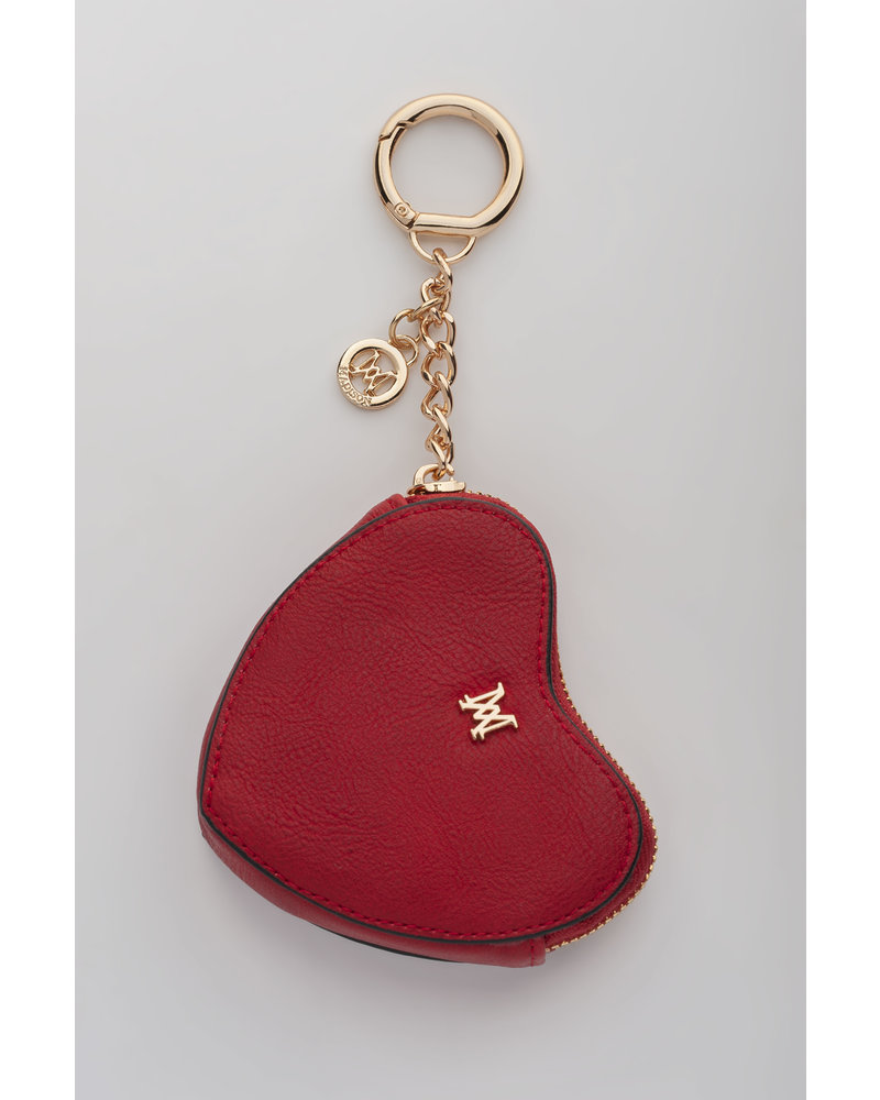 MADISON TESE HEART CLIP ON ACCESSORY - RED
