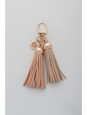 MADISON Darcie Mini 2 Tassel Charm Clip on - Blush/Dusty Pink