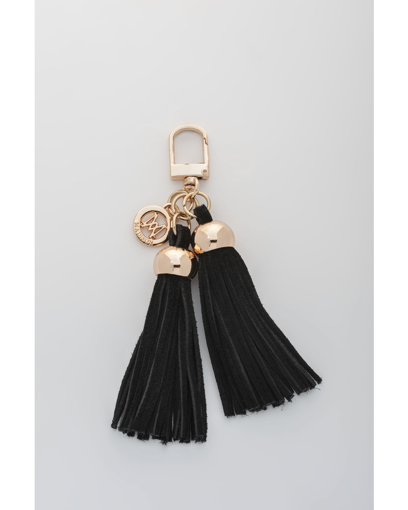 MADISON Darcie Mini 2 Tassel Charm Clip on - Black