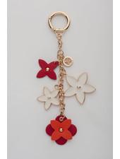 MADISON Rose Flower Charm Clip On - Red/Orange