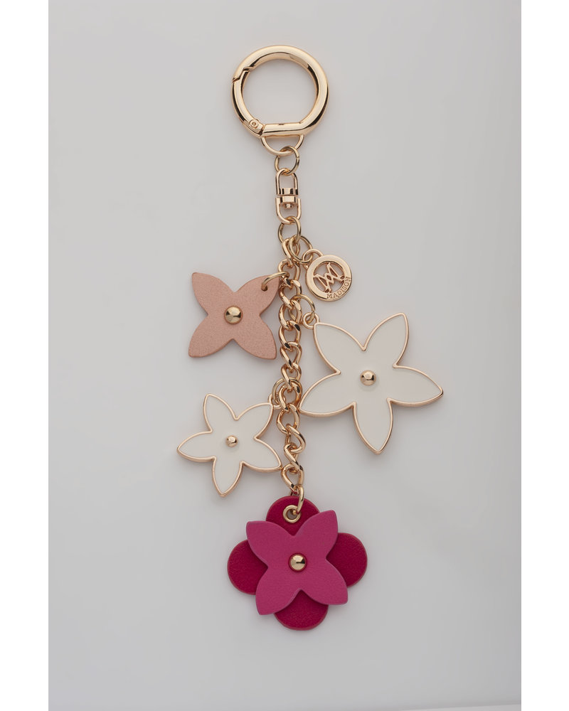 MADISON ROSE FLOWER CHARM CLIP ON - PEONY PINK/HOT PINK