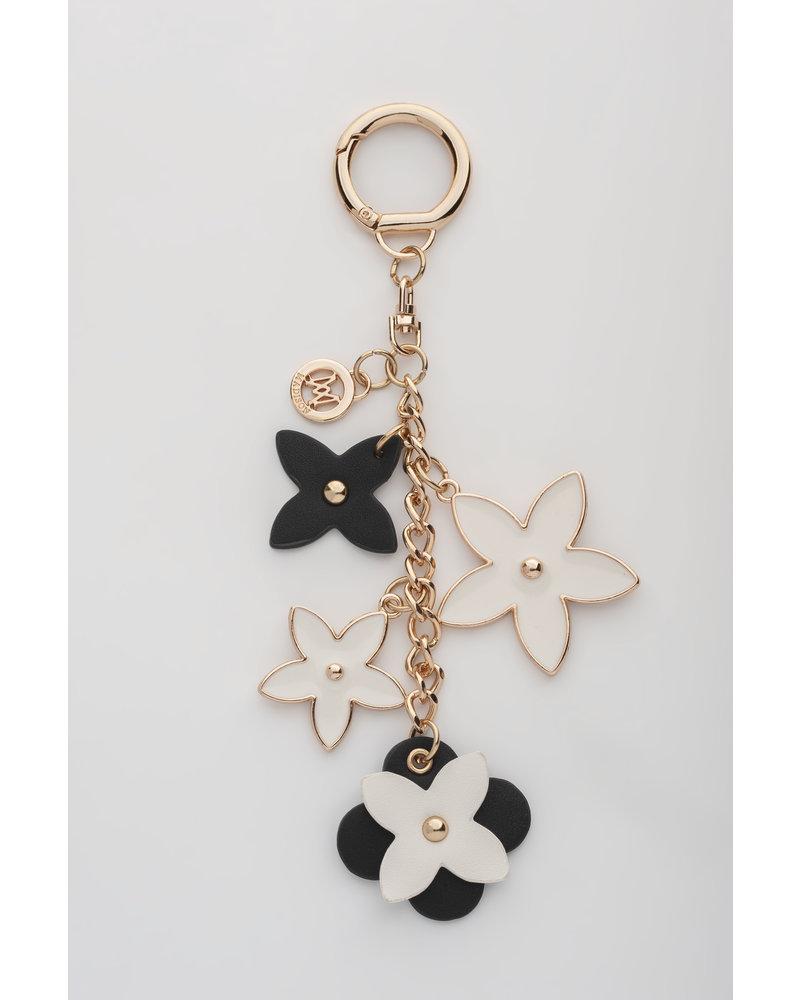 MADISON Rose Flower Charm Clip On - Black/White