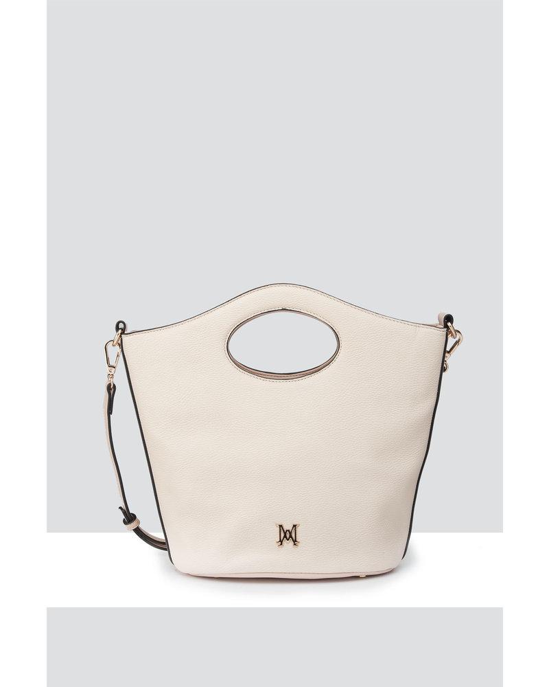MADISON FLORENCE CIRCLE HANDLE CROSSBODY - WHITE