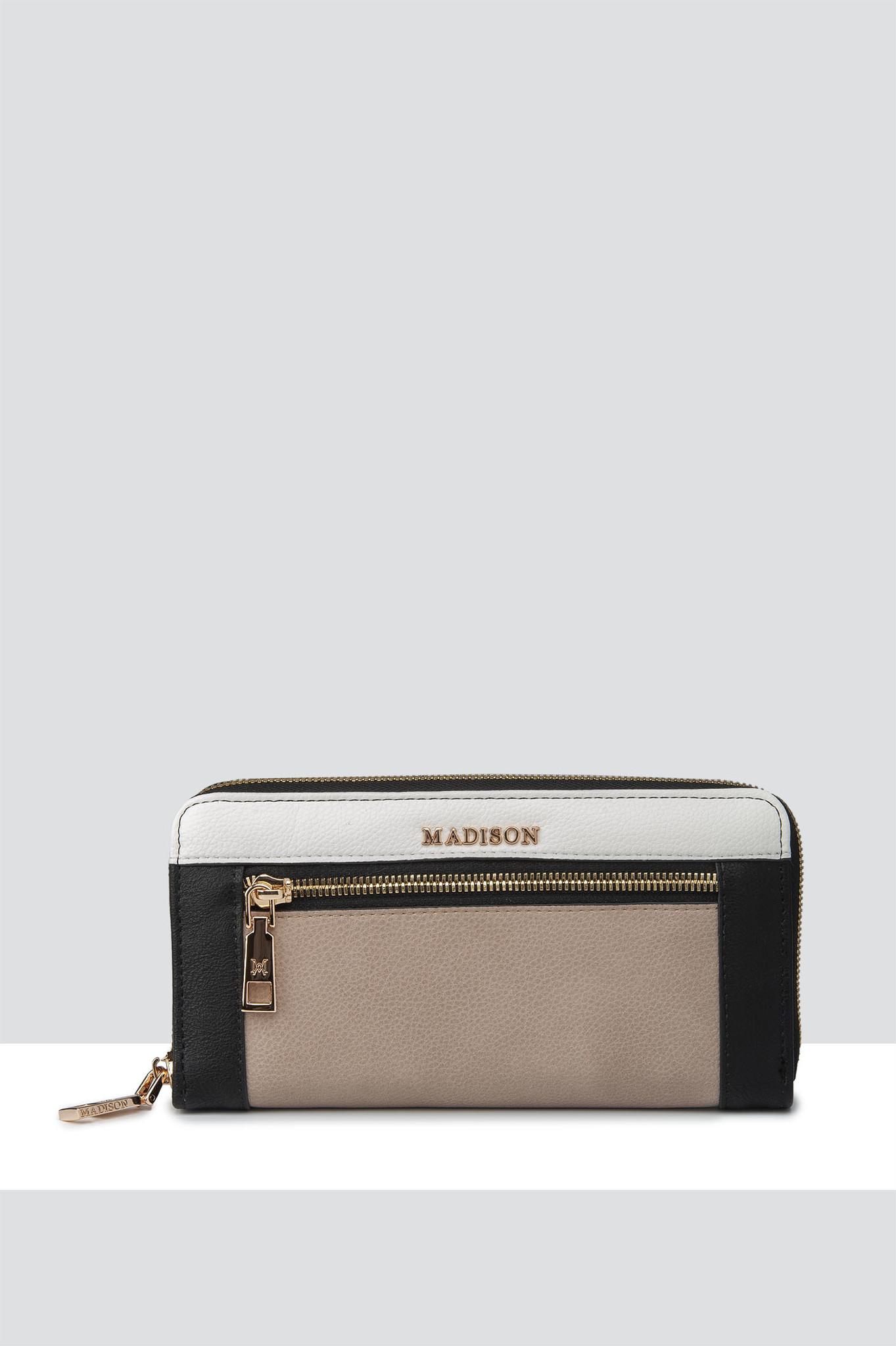 Abigail Zip Around Open Style Clutch Wallet With Front Zip