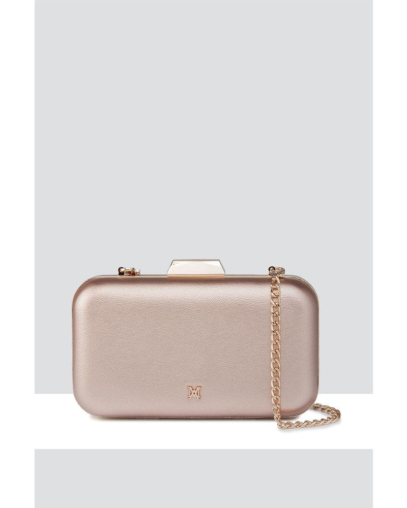 MADISON ABBI LARGE BOX MINAUDIERE - ROSE GOLD
