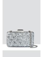 MADISON Lola Box Minaudiere - Silver Sequin