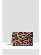 MADISON Amber Envelope Card Case Clip on - Leopard