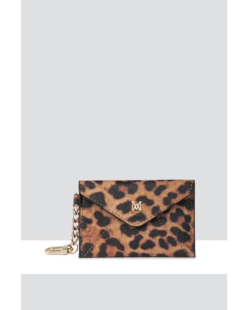 MADISON AMBER ENVELOPE CARD CASE CLIP ON - LEPOARD