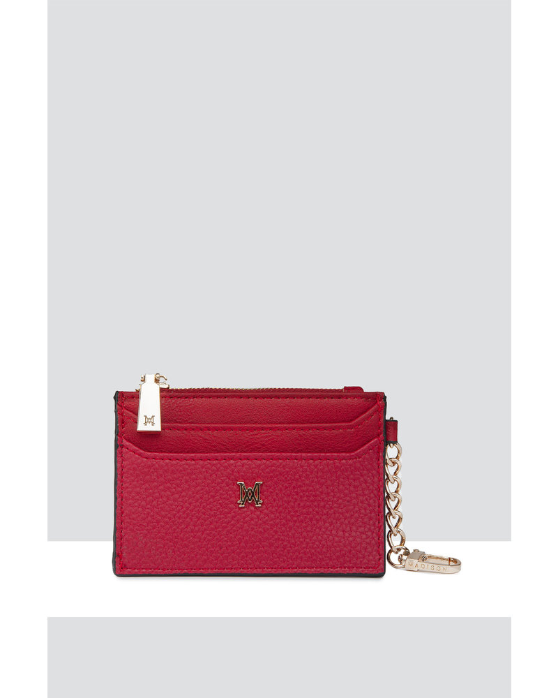 MADISON Hannah Zip Card Case - Red