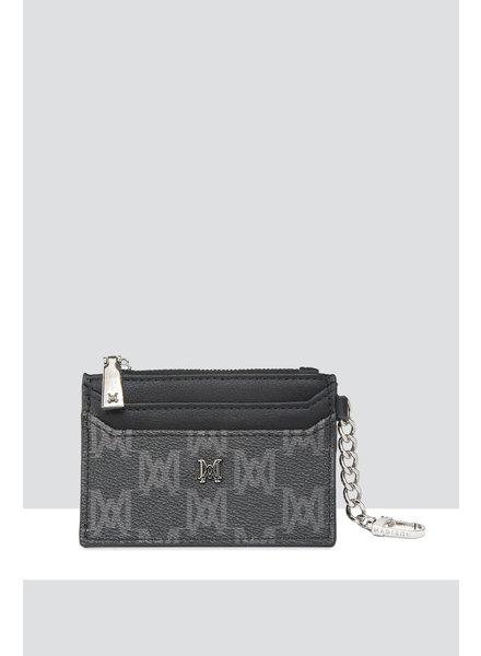 MADISON HANNAH ZIP CARD CASE CLIP ON - BLACK MA PRINT