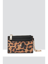 MADISON Hannah Zip Card Case - Leopard/Black