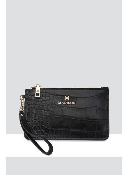 MADISON Kerryn Zip Purse Clip On Accessory - Black Croc