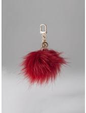MADISON Holly Fur Pom Pom Clip on - Red