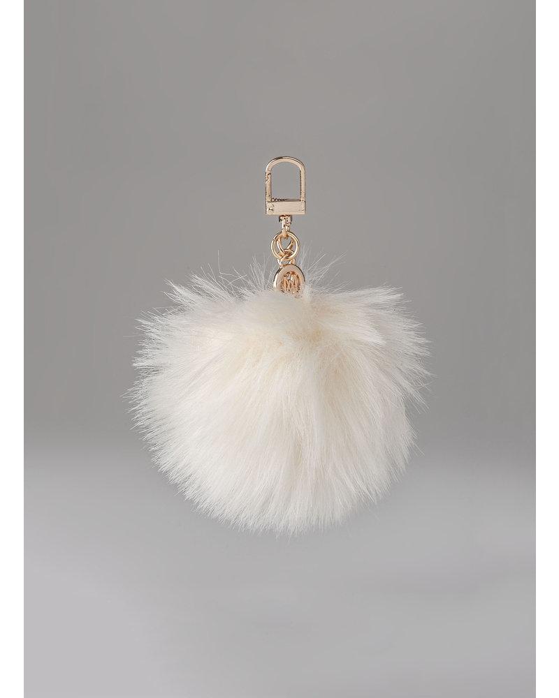 MADISON Holly Fur Pom Pom Clip on - Nude