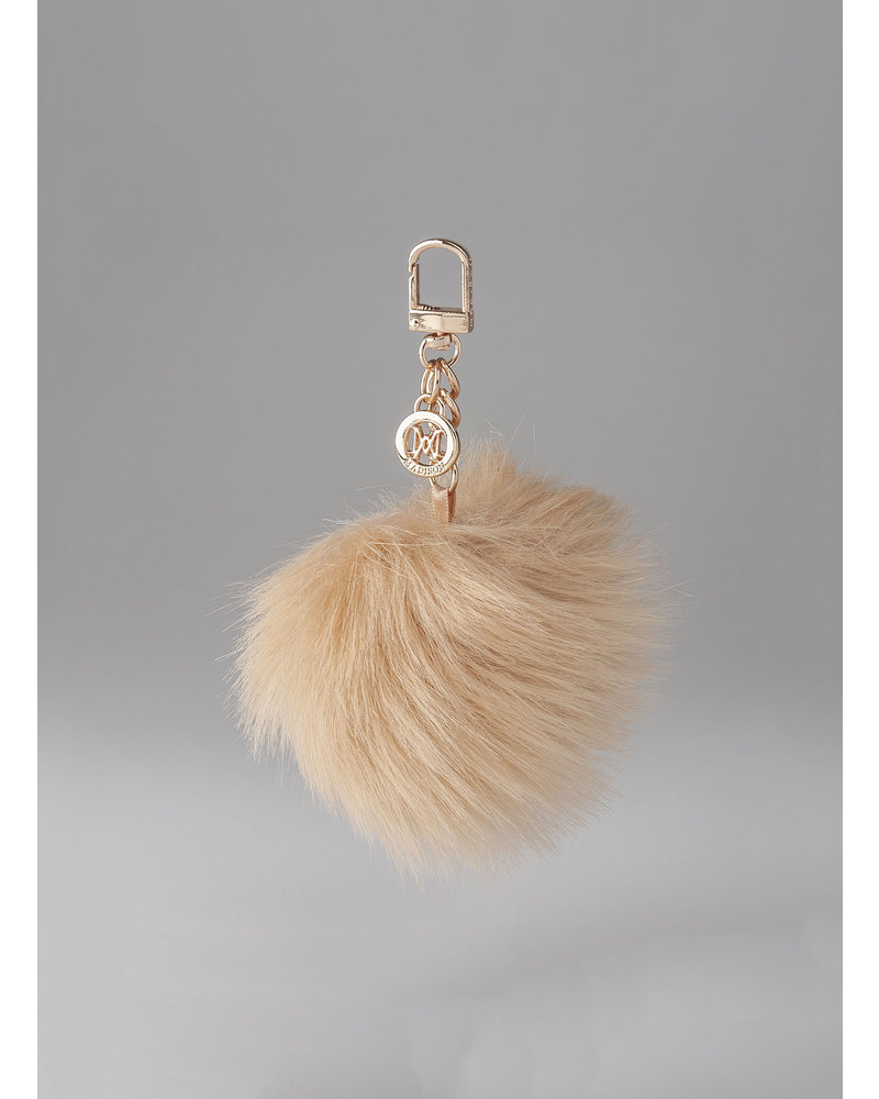MADISON Holly Fur Pom Pom Clip on - Honey