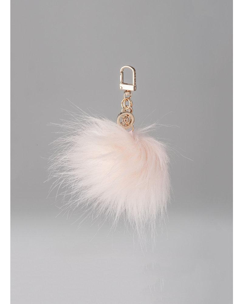 MADISON Holly Fur Pom Pom Clip on - Peony Pink