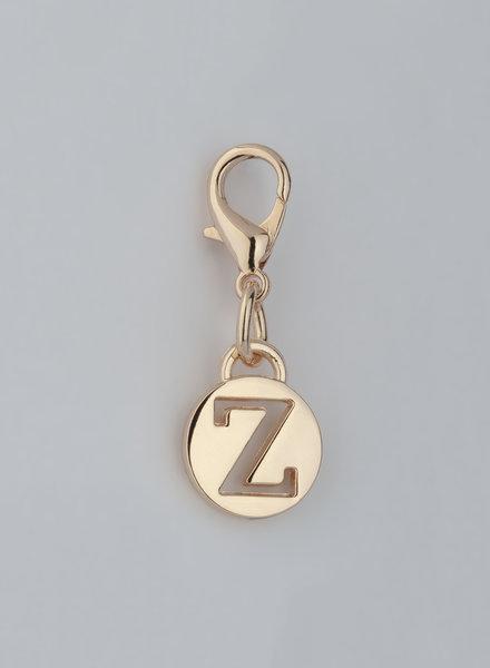 MADISON LETTER CHARM Z - LT GOLD