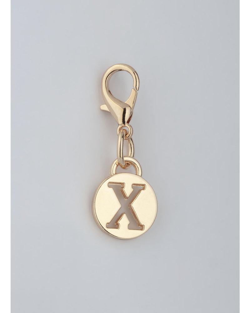 MADISON Letter Charm X - Lt Gold