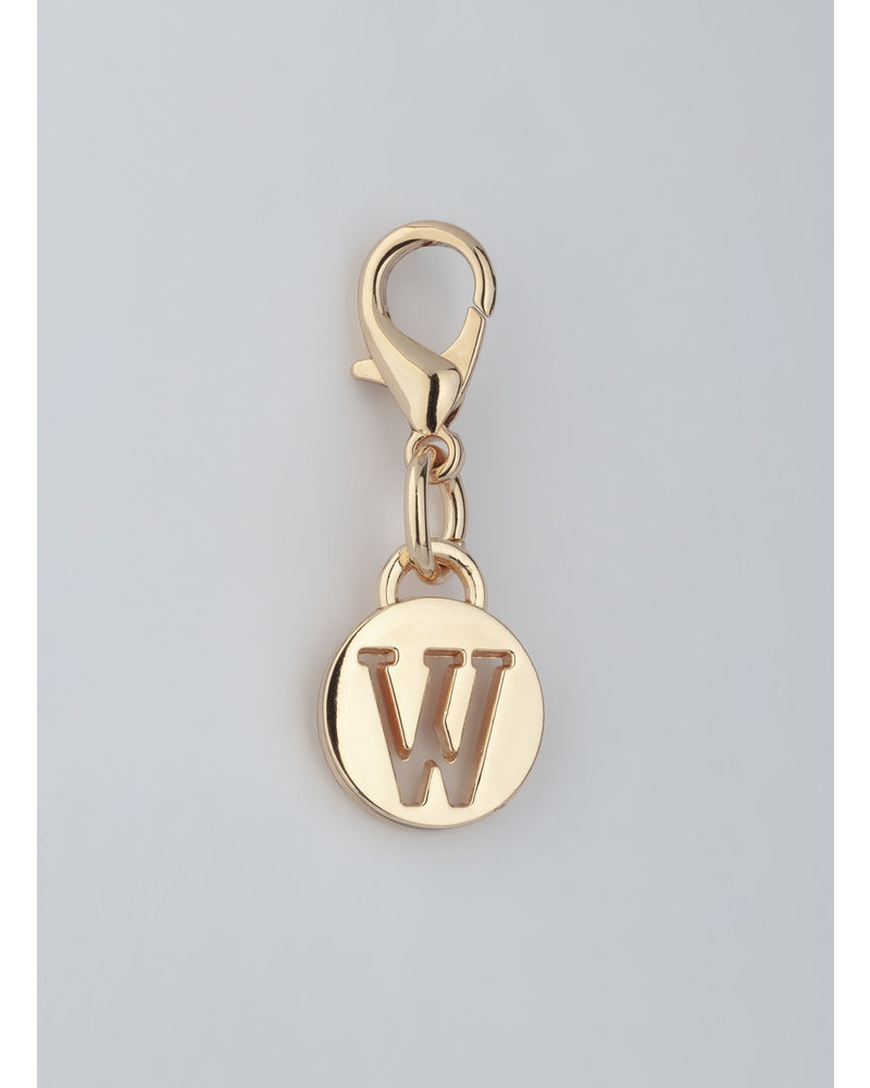 MADISON LETTER CHARM W - LT GOLD