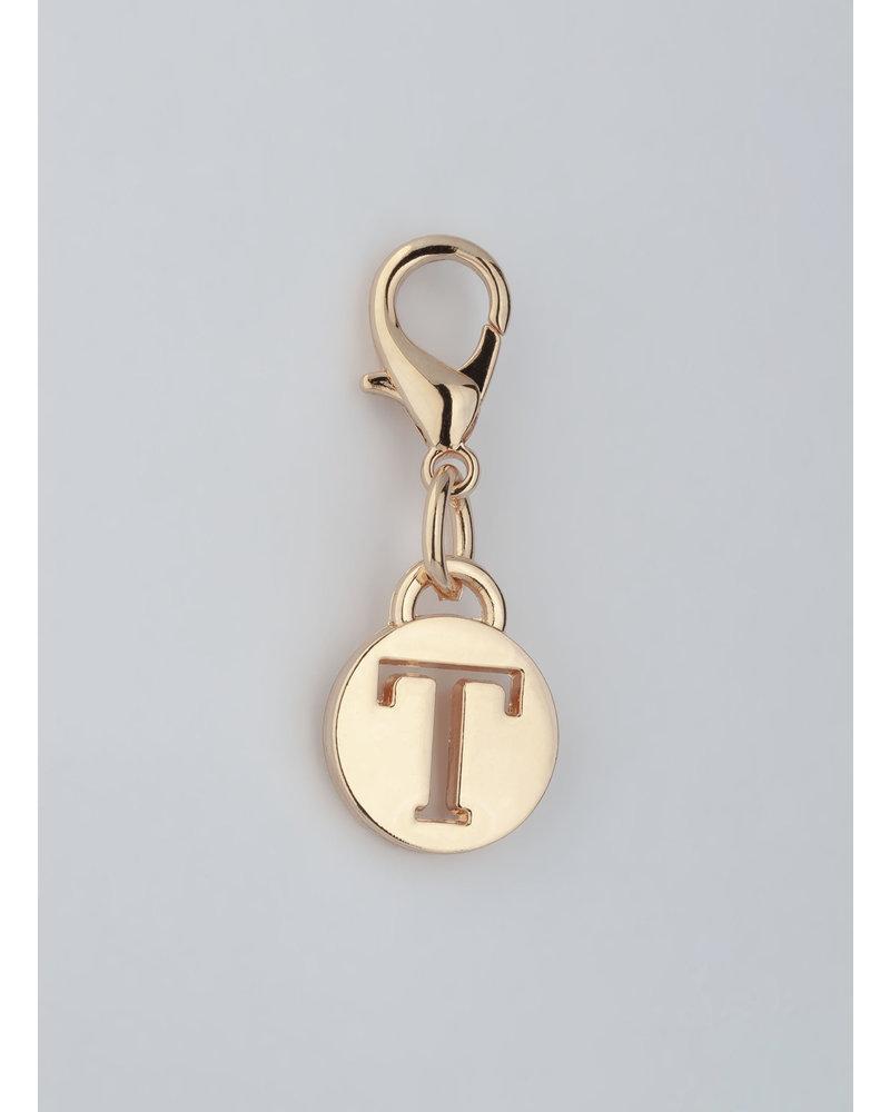 MADISON Letter Charm T - Lt Gold