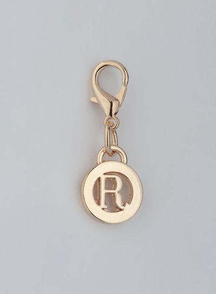 MADISON LETTER CHARM R - LT GOLD